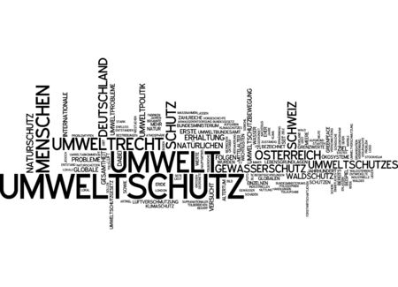 Word cloud - environmental protection Stock fotó