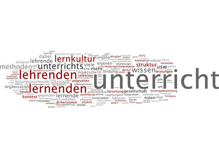 syllabus: Word cloud - teaching Stock Photo