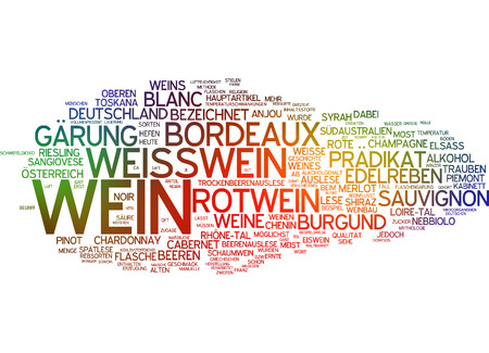 white riesling grape: Word cloud - wine