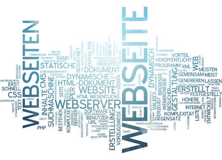 developed: Word cloud - website Stock Photo