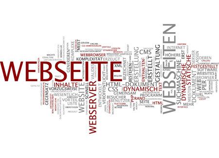 web browser: Word cloud - website Stock Photo