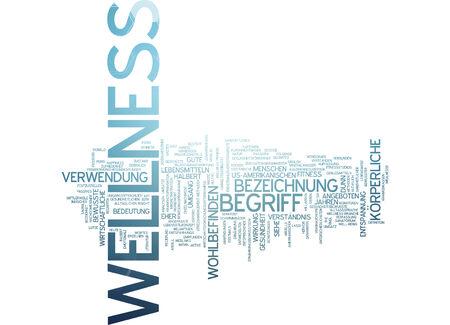 well being: Word cloud - wellness