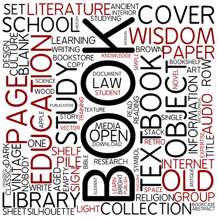 text books: Word cloud - book