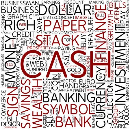 Word cloud - cash photo