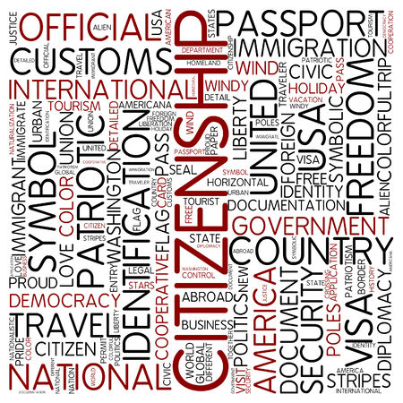 citizenship: Word cloud - citizenship