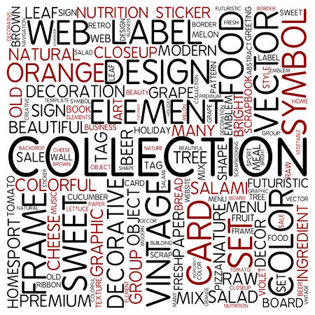 Word cloud - collection photo