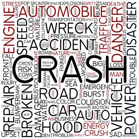 dangerous woman: Word cloud - crash Stock Photo