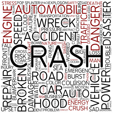 Word cloud - crash Banco de Imagens