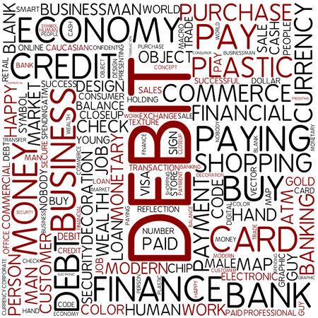 tarjeta visa: Nube de palabras - deuda