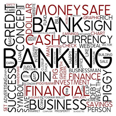 Word cloud - banking photo