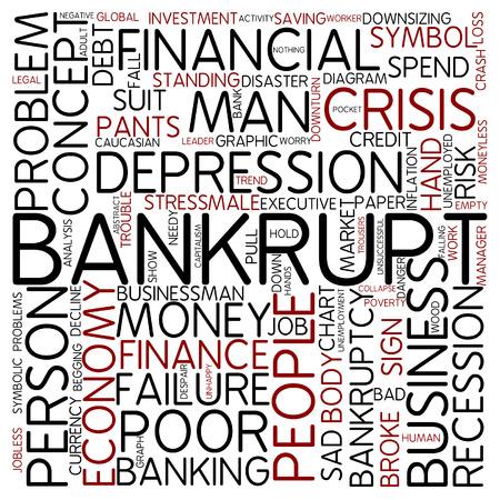 Word cloud - bankrupt photo