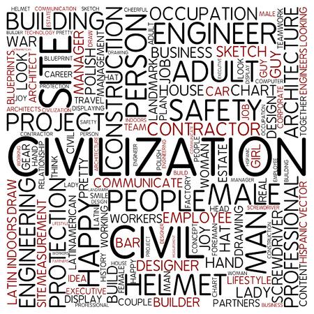 civil engineer: Word cloud - civilization