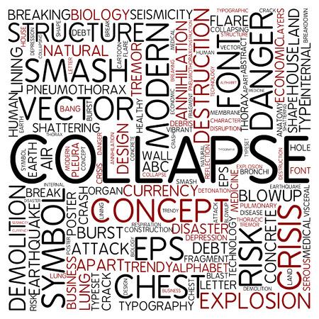 effondrement: Nuage de mots - effondrement