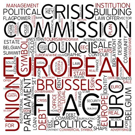 the european economic community: Word cloud - european Stock Photo