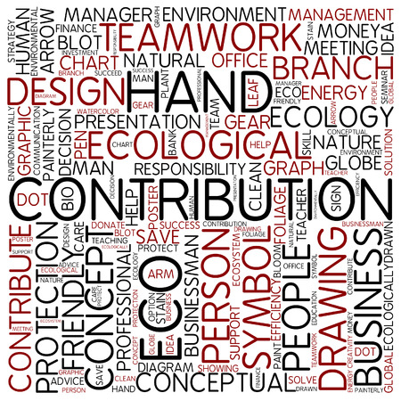 contribution: Word cloud - contribution