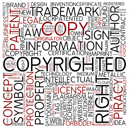 plagiarism: Word cloud - copyrighted