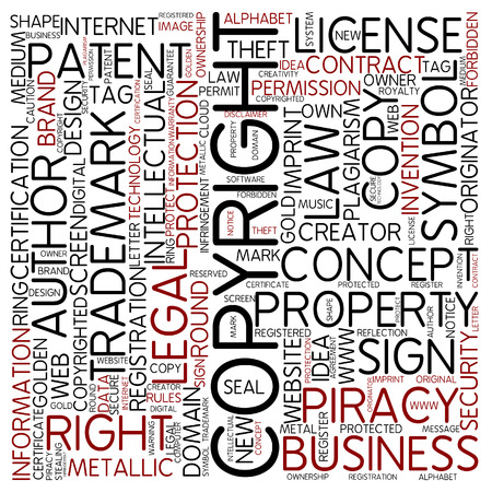 owning: Word cloud - copyrighted