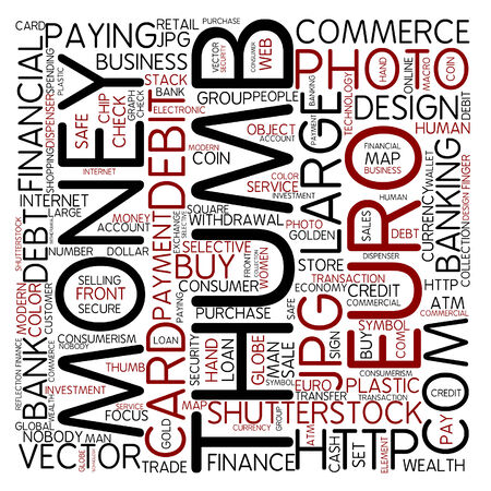 Word cloud - currency photo