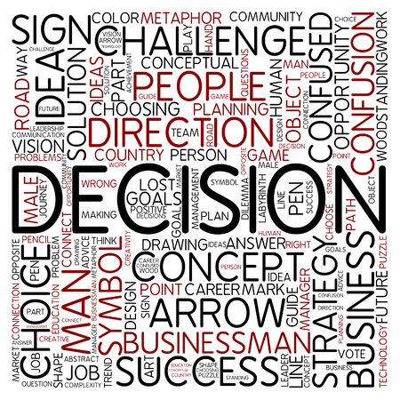 Word cloud - decision photo