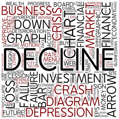 the decline: Word cloud - decline