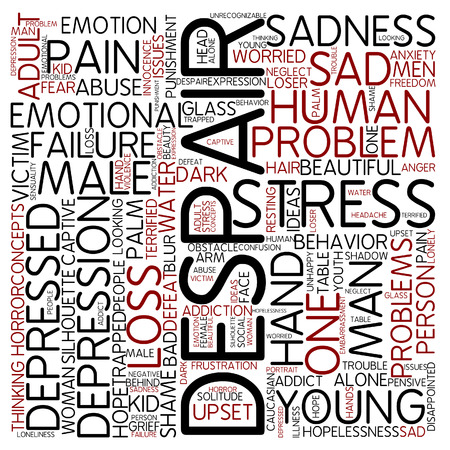 despair: Word cloud - despair Stock Photo