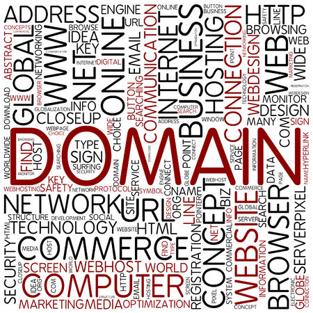 surfing the net: Word cloud - domain