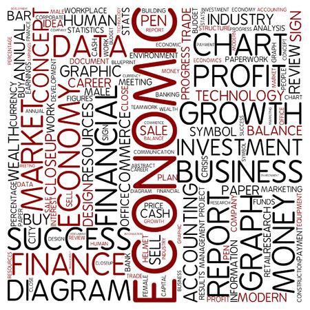 economic: Word cloud - economic Stock Photo