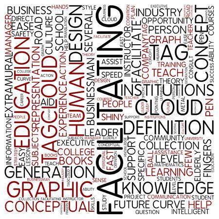 facilitate: Word cloud - facilitating