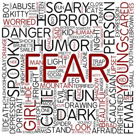 Word cloud - fear photo