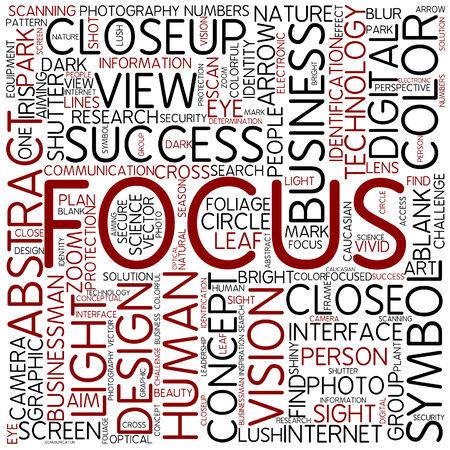 abstract eye: Word cloud - focus
