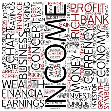 Word cloud - income photo