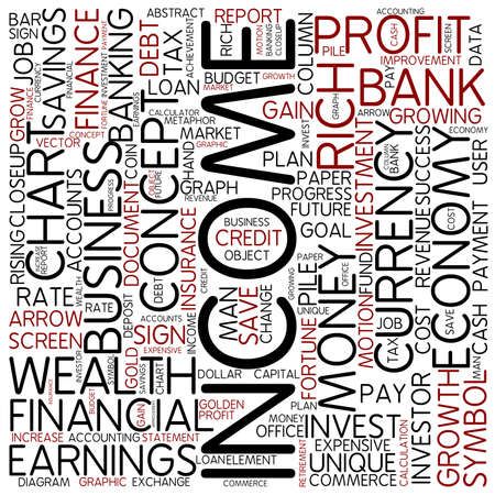 income market: Word cloud - income