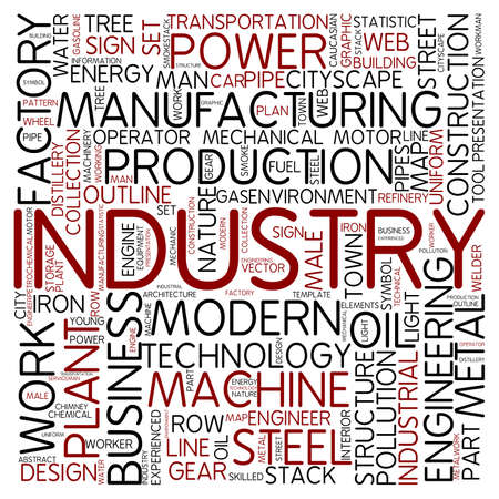 cloud industry: Word cloud - industry Stock Photo