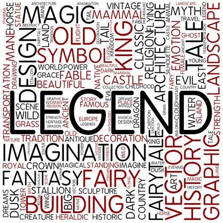 popular tale: Word cloud - legend