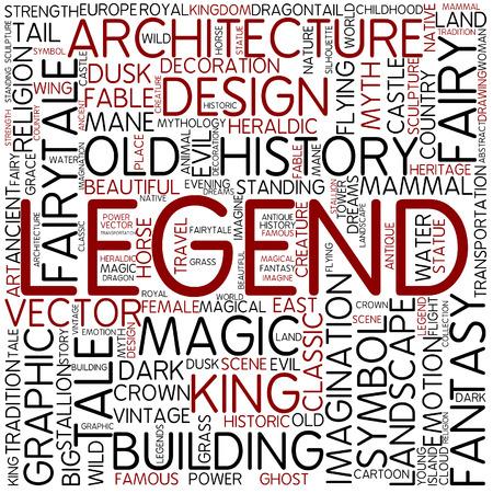 a legend of magic: Word cloud - legend