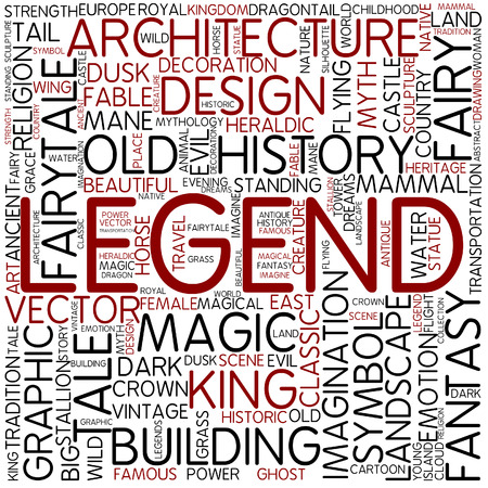 Word cloud - legend