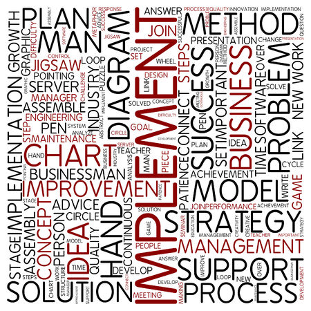 implement: Word cloud - implement Stock Photo