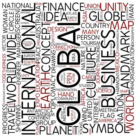 human geography: Word cloud - international