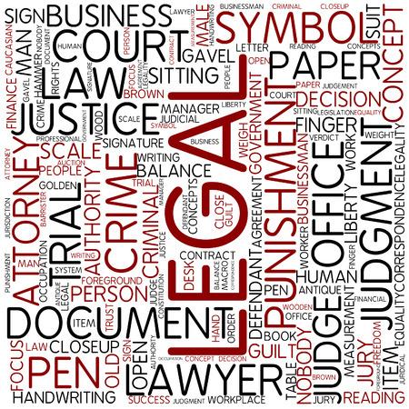Word cloud - legal photo