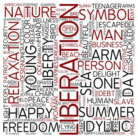 liberation: Word cloud - liberation Stock Photo