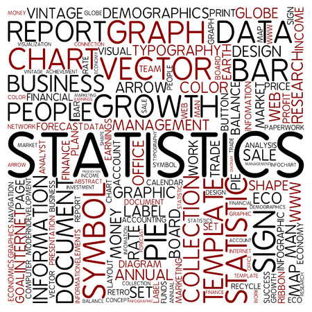 Word cloud - statistics photo