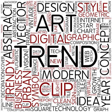 trend: Word cloud - trend