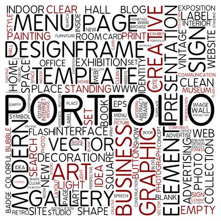 website words: Word cloud - portfolio Stock Photo