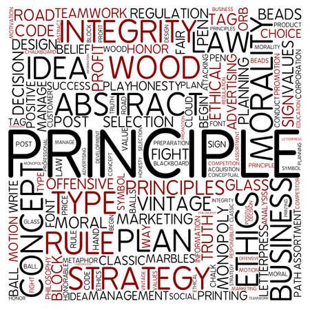 valores morales: Nube de palabras - principio