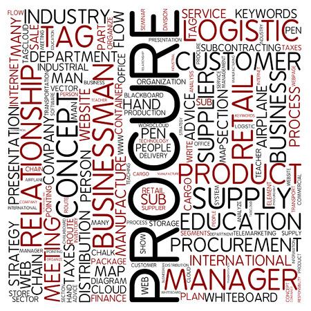 procurement: Word cloud - procure Stock Photo