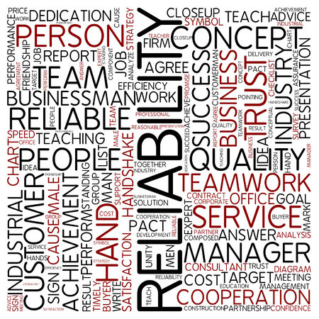 Word cloud - reliability