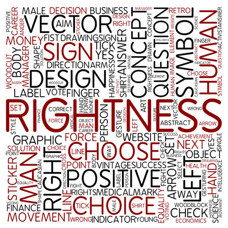rightness: Word cloud - rightness