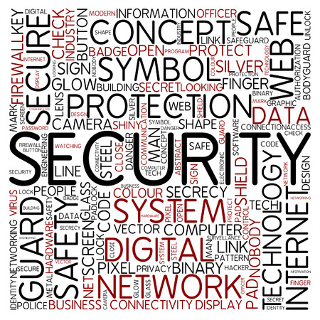cloud security: Word cloud - security Stock Photo