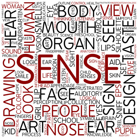 Word cloud - sense photo