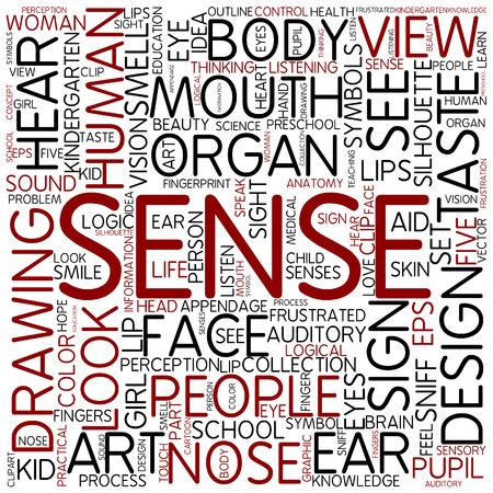 sense: Word cloud - sense Stock Photo